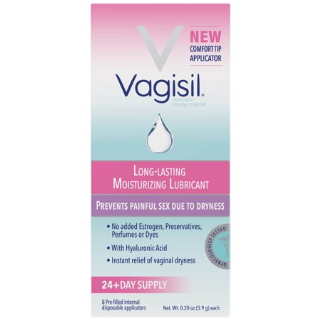 Vaginal Lubricant (Vagisil Prohydrate, Internal Vaginal Moisturizing Gel and Personal Lubricant, 8 Pre-filled Internal Disposable Applicators)