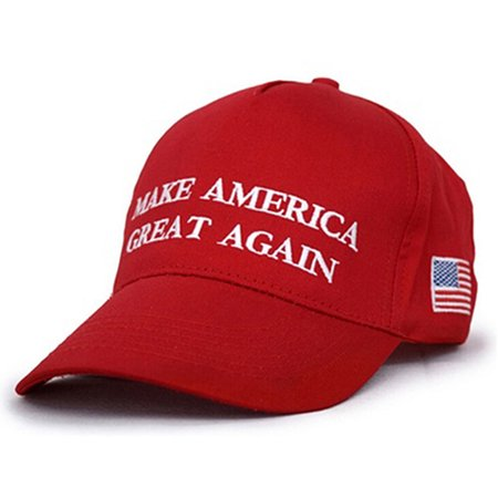 Heepo Red Make America Great Again Letters Print Hat Donald Trump Republican Hat
