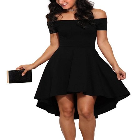 Clothes for Women on Clearance, Women's Off Shoulder Short Dress for Cocktail Party Dress, Blue / Black / Wine Red Elegant Party Dreses for Fall / Winter, M-3XL](Dress Sale Clearance)