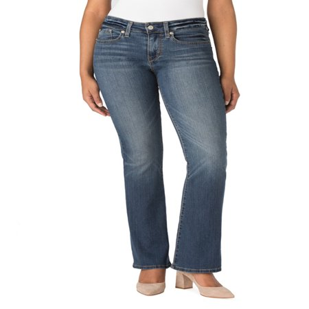 Signature by Levi Strauss & Co. Women's Modern Bootcut Jeans Belted Bootcut Relaxed Jean