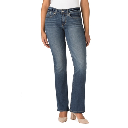 Signature by Levi Strauss & Co. Women's Modern Bootcut Jeans Button Down Cotton Jeans