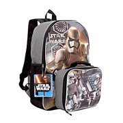 3196ce480be7 Star Wars the Force Awakens 16 Inch Backpack with Detachable Lunch Kit