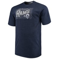 Men's Majestic Navy Los Angeles Rams Big & Tall Royal Domination Malt T-Shirt