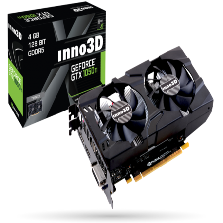 INNO3D Nvidia Geforce GTX 1050 TI 4GB PCI-E x16 3.0 GDDR5 Video Graphics Card ()
