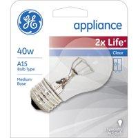 GE Appliance 40 watt A15 Clear Medium Base bulb, 1-pack