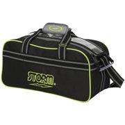 Storm 2 Ball Tote Bowling Bag Black Grey Lime