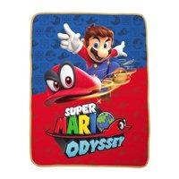 Nintendo Super Mario Hop To It Kids Bedding Silky Soft Throw, 1 Each