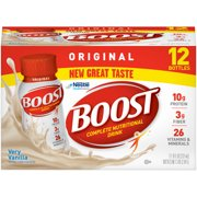 Boost Original Complete Nutritional Drink, Very Vanilla, 8 Fl oz, 12 Ct