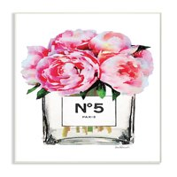 The Stupell Home Decor Collection Glam Paris Vase with Pink Peony Wall Plaque Art