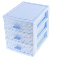 Unique Bargains Plastic 3 Layers Underwear Socks Cosmetic Jewelry Drawer Container Organizer Box