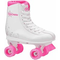 Roller Star 350 Girls' Quad Skates, White/Pink