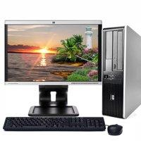 "HP Desktop PC Bundle Windows 10 Intel 2.13GHz Core 2 Duo Processor 4GB Ram 80GB Hard Drive DVD Wifi with a 17"" LCD -Refurbished Computer"