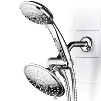 Hydroluxe® 30-Setting Ultra-Luxury 3-Way 6-inch Rainfall Shower Head/Handheld Shower Combo with Patented ON/OFF Pause Switch (Premium Chrome)