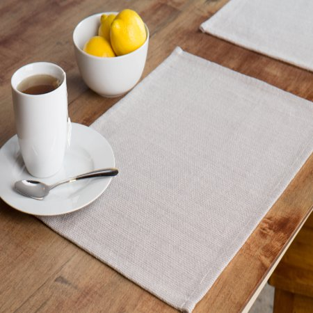 Mainstays Woven Solid Placemats, Polyester Cotton Blend, 13 in x 18 in, 4 Pack, Multiple Colors Available - Red Round Placemats