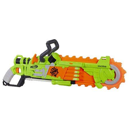 Nerf Zombie Strike Brainsaw Blaster with 8 Nerf Zombie Strike - Zombie Zombies