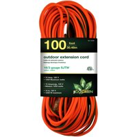 GoGreen Power 16/3 100' GG-13700 Heavy Duty Extension Cord, Lighted End