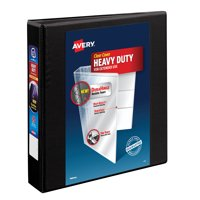 """Avery 1 1/2"""" Heavy-Duty View Binder, 1-Touch Locking EZD Rings, Black"""