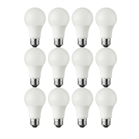 Great Value (12 Pack) LED Light Bulbs, 6W (40W Equivalent), A19, Soft White, Shatter Resistant