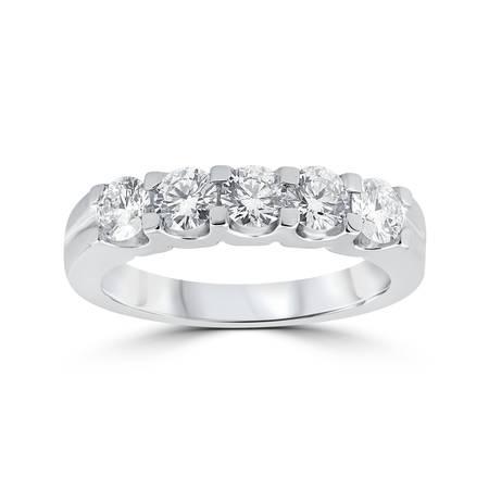 14k White Gold Anniversary Band (1ct Diamond Wedding Ring Anniversary Stackable Band 14K White Gold )