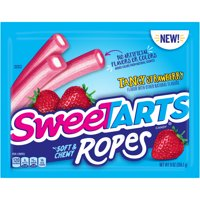 Sweetarts, Laydown Bag Tangy Strawberry Soft & Chewy Ropes, 9oz (Pack of 2)