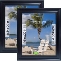 Mainstays 16x20 Wide Black Poster & Picture Frame, Set of 2