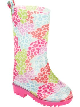 Pebble Leopard Printed Toddler Girls' Jelly Rain Boots