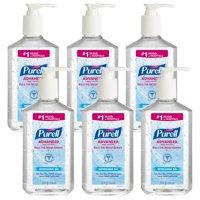 PURELL® Advanced Hand Sanitizer Gel, 12 fl oz Pump Bottle, 6 Pack