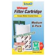 Tetra Whisper Replacement Carbon Filter Cartridges Medium, 6 ct