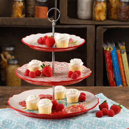 The Pioneer Woman Blossom 3-Tier Jubilee Serving Tray