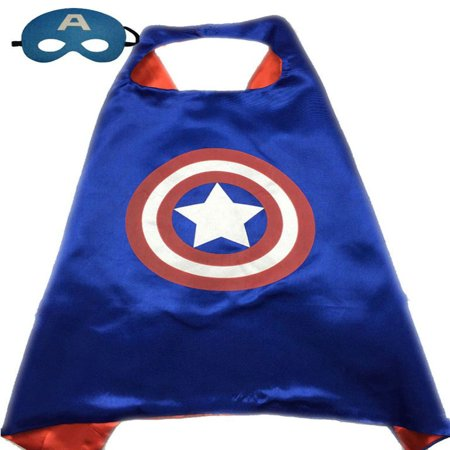 Superhero or Princess CAPE & MASK SET Kids Childrens Halloween Costume Cloak - Girl Super Villain Costumes