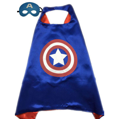 Superhero or Princess CAPE & MASK SET Kids Childrens Halloween Costume Cloak - Ana And Elsa Costume
