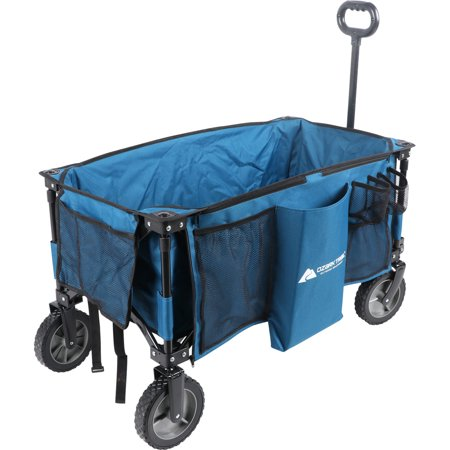 Watson Auto - Ozark Trail Quad-Folding Wagon with Telescoping Handle, Blue