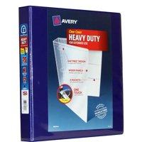 "Avery 1"" Heavy-Duty Clear-Cover Binder, Navy, 275 Sheets"