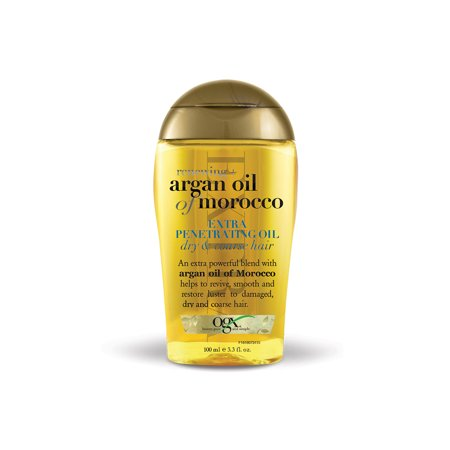 OGX Renewing Moroccan Argan Oil Extra Penetrating Oil, Dry & Course Hair, 3.3 - Girl Greaser