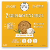 Cali'flour Foods Gluten Free, Low Carb Cauliflower Original Italian Pizza Crusts - 1 Box - (2 Total Crusts Per Box)