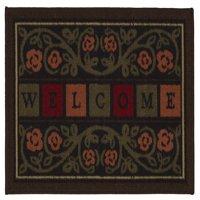 Ottomanson Non-Slip Floral Welcome Indoor Doormat