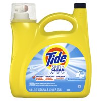 Tide Simply Clean & Fresh Liquid Laundry Detergent, Refreshing Breeze, 89 Loads 138 fl oz