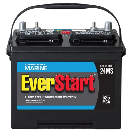 Everstart Lead Acid Marine Battery Group 24ms Walmart Com