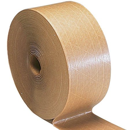 Gummed Tape Economy Reinforced Water Activated Tan/Brown Color 3