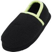 6f2f7d7ab444 Norty Toddler Boys Kids Fleece Memory Foam Slip On Indoor Slippers Shoe