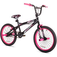 "Kent 20"" Girls', Trouble BMX Bike, Black/Pink, For Ages 8-12"