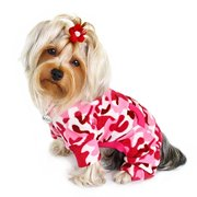 Dog Puppy Pink Camouflage Fleece Turtleneck Pajamas  Bodysuit Loungewear Coverall Jumper a22e6f4d9