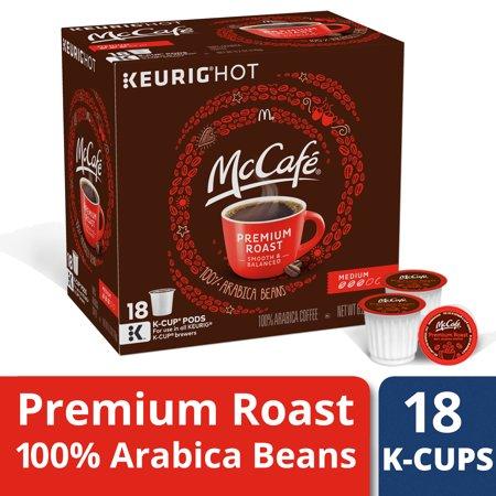 McCafe Premium Roast Medium Coffee K-Cup Pods, Caffeinated, 18 ct - 6.2 oz