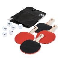 Penn 4 Player Table Tennis Paddle and Ball Set, 4 Paddles & 6 Balls