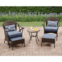 Mainstays Skylar Glen 5-Piece Outdoor Chat Set, Seats 2