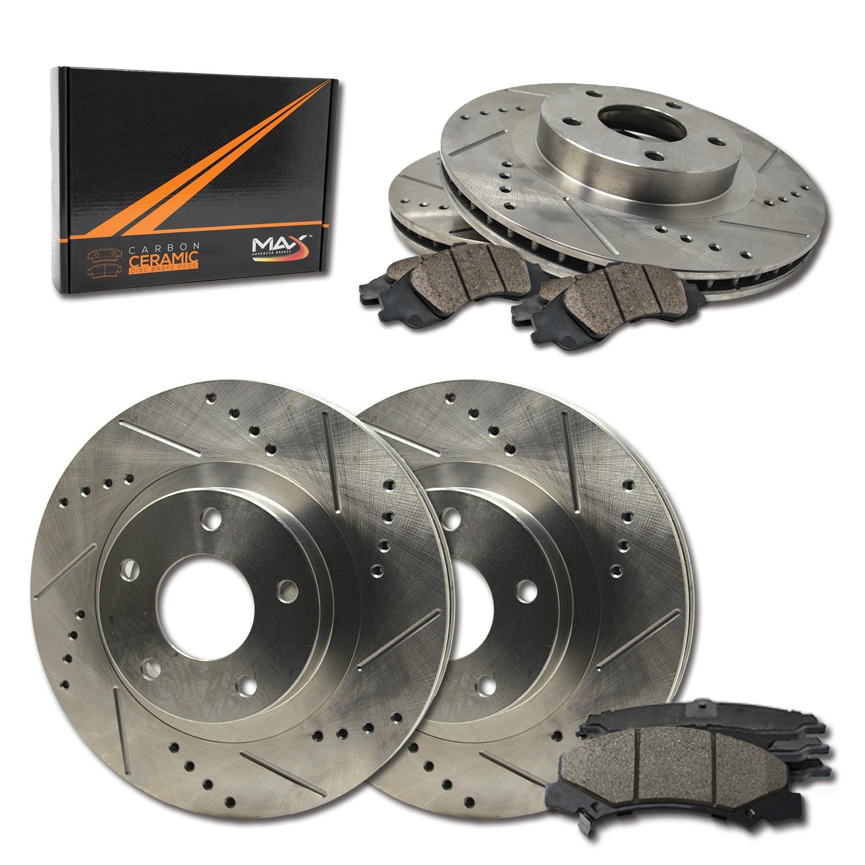 Front Drilled Slot Brake Rotors Ceramic Pads For Rainier Chevy Trailblazer Envoy
