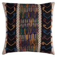 "Rizzy Home Decorative Poly Filled Throw Pillow Tribal 20""X20"" Black"