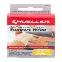Mueller Sport Care Extra Long All-Purpose Support Wrap, 1ct
