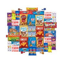 Care Package for College Students, Military, Birthday, or Back to School (50 Count) From Snack Box