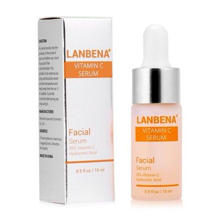 HERCHR LANBENA Vitamin C Serum, Remove Freckle Fade Dark Spot Anti-aging, Whiten Moisturize Facial Serum, Whitening Moisturizing Facial Serum, Fade Dark Spots Serum, LANBENA VC Original Liquid
